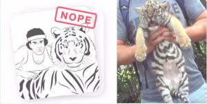 Tinder ne veut plus voir de selfies avec des tigres en captivité (merci PETA) !